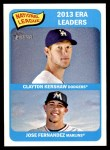 2014 Topps Heritage #8   -  Jose Fernandez / Clayton Kershaw NL ERA Leaders Front Thumbnail