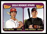 2014 Topps Heritage #24   -  Ehire Adrianza / Zach Walters Rookies Front Thumbnail