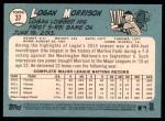 2014 Topps Heritage #37  Logan Morrison  Back Thumbnail