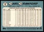 2014 Topps Heritage #40  Carl Crawford  Back Thumbnail