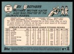 2014 Topps Heritage #47  Rex Brothers  Back Thumbnail