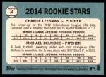 2014 Topps Heritage #74   -  Charlie Leesman / Michael Belfiore Rookies Back Thumbnail