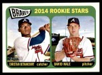 2014 Topps Heritage #82   -  Christian Bethancourt / David Hale Braves Rookies Front Thumbnail