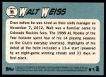 2014 Topps Heritage #99  Walt Weiss  Back Thumbnail