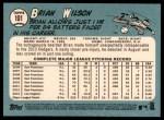 2014 Topps Heritage #101  Brian Wilson  Back Thumbnail