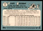 2014 Topps Heritage #111  Yunel Escobar  Back Thumbnail