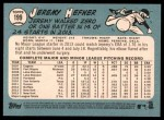 2014 Topps Heritage #199  Jeremy Hefner  Back Thumbnail
