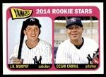 2014 Topps Heritage #226   -  Cesar Cabral / J.R. Murphy Yankees Rookies Front Thumbnail