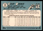 2014 Topps Heritage #229  Colby Rasmus  Back Thumbnail