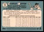 2014 Topps Heritage #254  Charlie Morton  Back Thumbnail