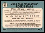 2014 Topps Heritage #308   -  Travis d'Arnaud / Wilmer Flores Mets Rookies Back Thumbnail
