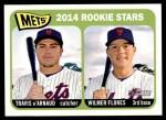 2014 Topps Heritage #308   -  Travis d'Arnaud / Wilmer Flores Mets Rookies Front Thumbnail