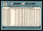2014 Topps Heritage #337  Jimmy Rollins  Back Thumbnail