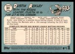 2014 Topps Heritage #381  Dustin Ackley  Back Thumbnail