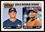 2014 Topps Heritage #409   -  Jorge DeLeon / Max Stassi Astros Rookies Front Thumbnail