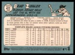 2014 Topps Heritage #422  Brad Ziegler  Back Thumbnail
