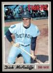 1970 Topps #475  Dick McAuliffe  Front Thumbnail