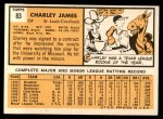 1963 Topps #83  Charlie James  Back Thumbnail