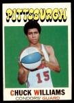 1971 Topps #218  Chuck Williams  Front Thumbnail