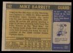 1971 Topps #162  Mike Barrett  Back Thumbnail