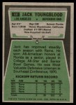 1975 Topps #60  Jack Youngblood  Back Thumbnail