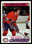 1977 Topps #30  Larry Robinson  Front Thumbnail