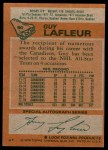 1978 Topps #90  Guy Lafleur  Back Thumbnail