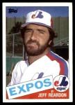 1985 Topps #375  Jeff Reardon  Front Thumbnail