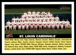 2005 Topps Heritage #134   St. Louis Cardinals Team Front Thumbnail