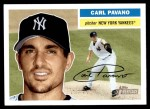 2005 Topps Heritage #176  Carl Pavano  Front Thumbnail
