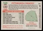 2005 Topps Heritage #121   Pittsburgh Pirates Team Back Thumbnail