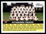 2005 Topps Heritage #121   Pittsburgh Pirates Team Front Thumbnail