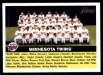 2005 Topps Heritage #146   Minnesota Twins Team Front Thumbnail