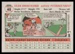 2005 Topps Heritage #45  Tike Redman  Back Thumbnail