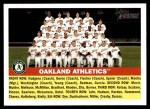 2005 Topps Heritage #236   Oakland Athletics Team Front Thumbnail