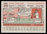 2005 Topps Heritage #375  Michael Young  Back Thumbnail