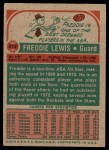 1973 Topps #212  Fred Lewis  Back Thumbnail
