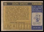 1971 Topps #109  Don Smith  Back Thumbnail
