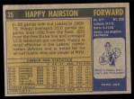 1971 Topps #25  Happy Hairston   Back Thumbnail