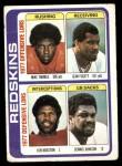 1978 Topps #528   -  Mike Thomas / Jean Fugett / Ken Houston / Dennis Johnson Washington Redskins Leaders & Checklist Front Thumbnail