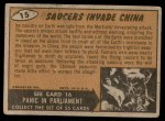 1962 Topps / Bubbles Inc Mars Attacks #15   Saucers Invade China  Back Thumbnail