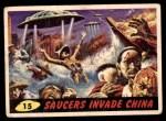 1962 Topps / Bubbles Inc Mars Attacks #15   Saucers Invade China  Front Thumbnail