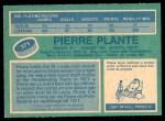 1976 O-Pee-Chee NHL #371  Pierre Plante  Back Thumbnail