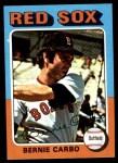 1975 Topps Mini #379  Bernie Carbo  Front Thumbnail