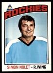 1976 O-Pee-Chee NHL #64  Simon Nolet  Front Thumbnail