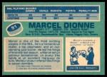 1976 O-Pee-Chee NHL #91  Marcel Dionne  Back Thumbnail