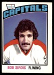 1976 O-Pee-Chee NHL #323  Bob Sirois  Front Thumbnail