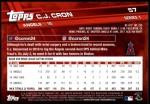 2017 Topps #57  C.J. Cron  Back Thumbnail