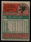 1975 Topps Mini #28  Tom Murphy  Back Thumbnail