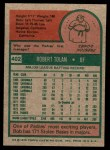 1975 Topps Mini #402  Bobby Tolan  Back Thumbnail